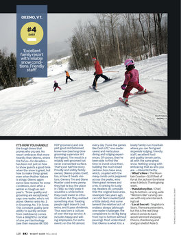 Assignment for SKI Magazine