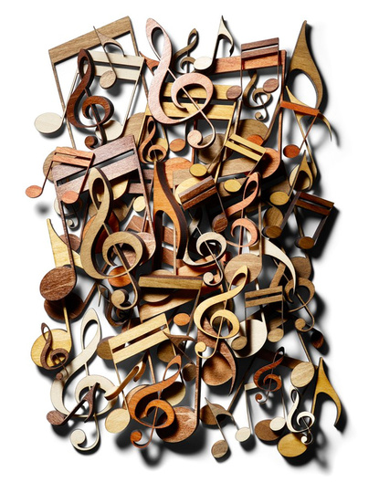 custom wood musical notes