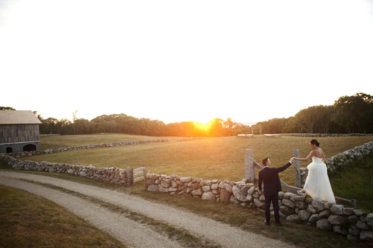 On a majestic summer day on Martha's Vineyard, Naomi & Cliff were married on the gorgeous and exclusive property of Chickemmoo Farms.