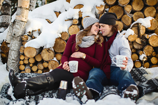 Winter Maternity Picture