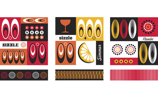 Surface pattern for a range of barbecue products.