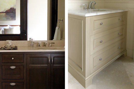 Left: Guest Bath Vanity