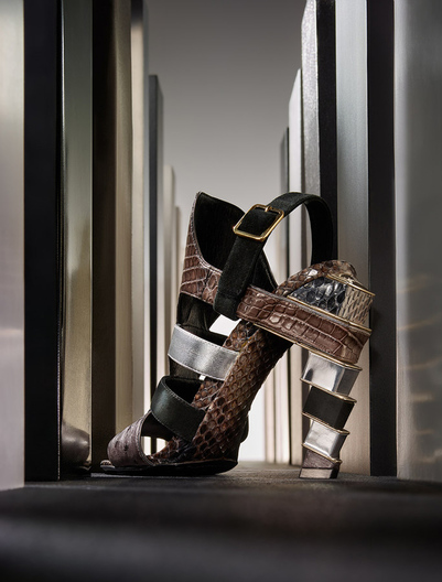 city skyscape stacked heel