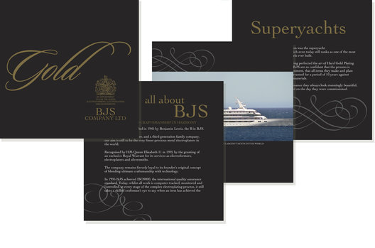 Graphic design that communicates the quality, variety and scale of the company.