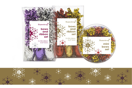 Packaging design, showing price differentiation, for a wide range of Christmas merchandise 