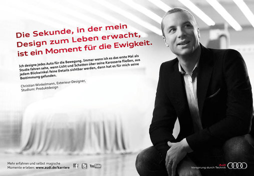 Fotoshooting für Werbung von Audi, advertising photography with people and car, for advertising campaign Audi