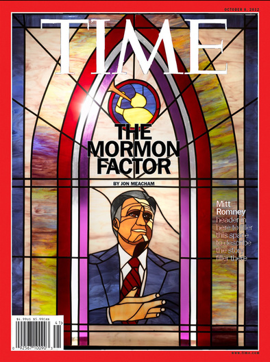 stained glass portrait of mitt romney