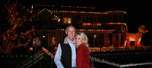 Balboa Island residents and holiday home decorators Robert and Christyne Olson