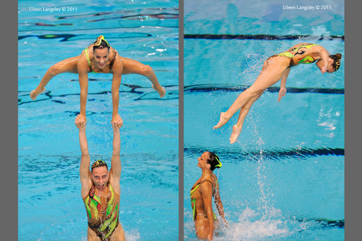 The group from Italy set up a throw from underwater while competing in the Team section of the European Synchro Champions Cup in Sheffield May 2011.