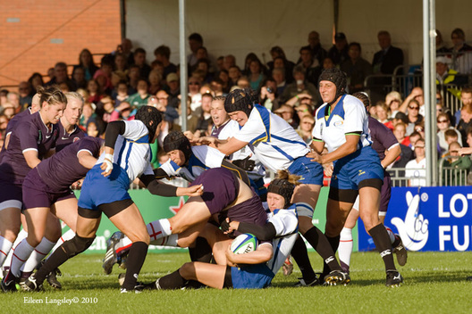 Action from the England versus Kazakhstan match at the 2010 Women's World Cup Rugby at Surrey Sports Park August 24th.