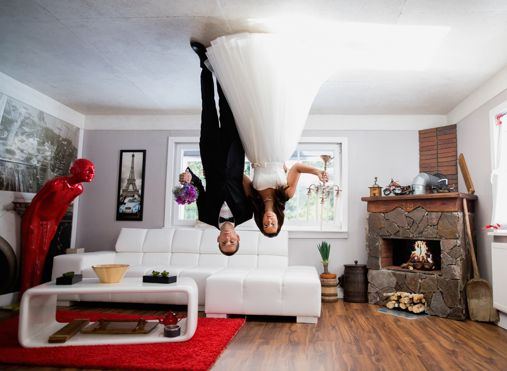 Upside down wedding from unique destination wedding in Austria