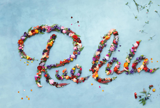 logo made of flowers