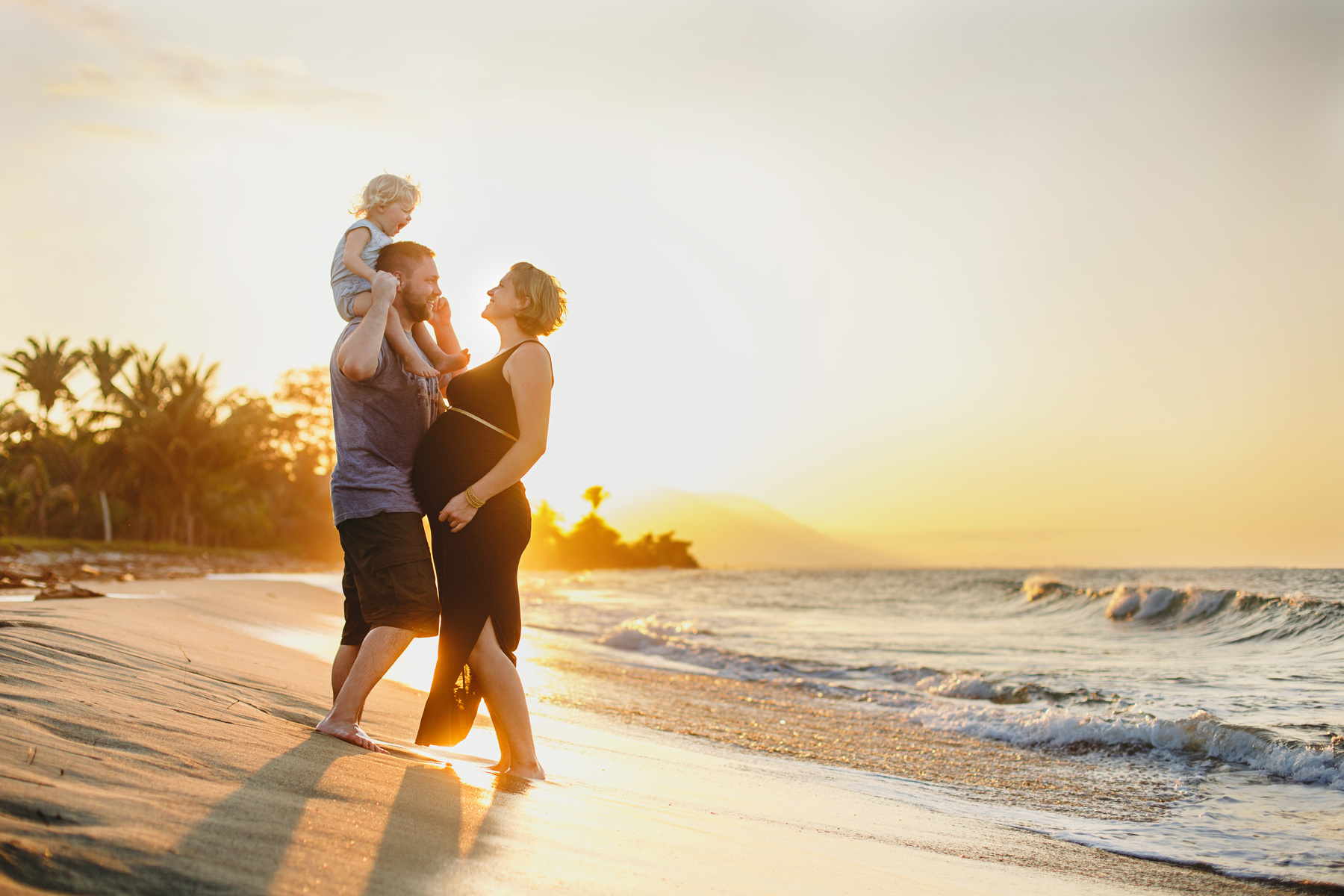 Beach Sunset Maternity Picture