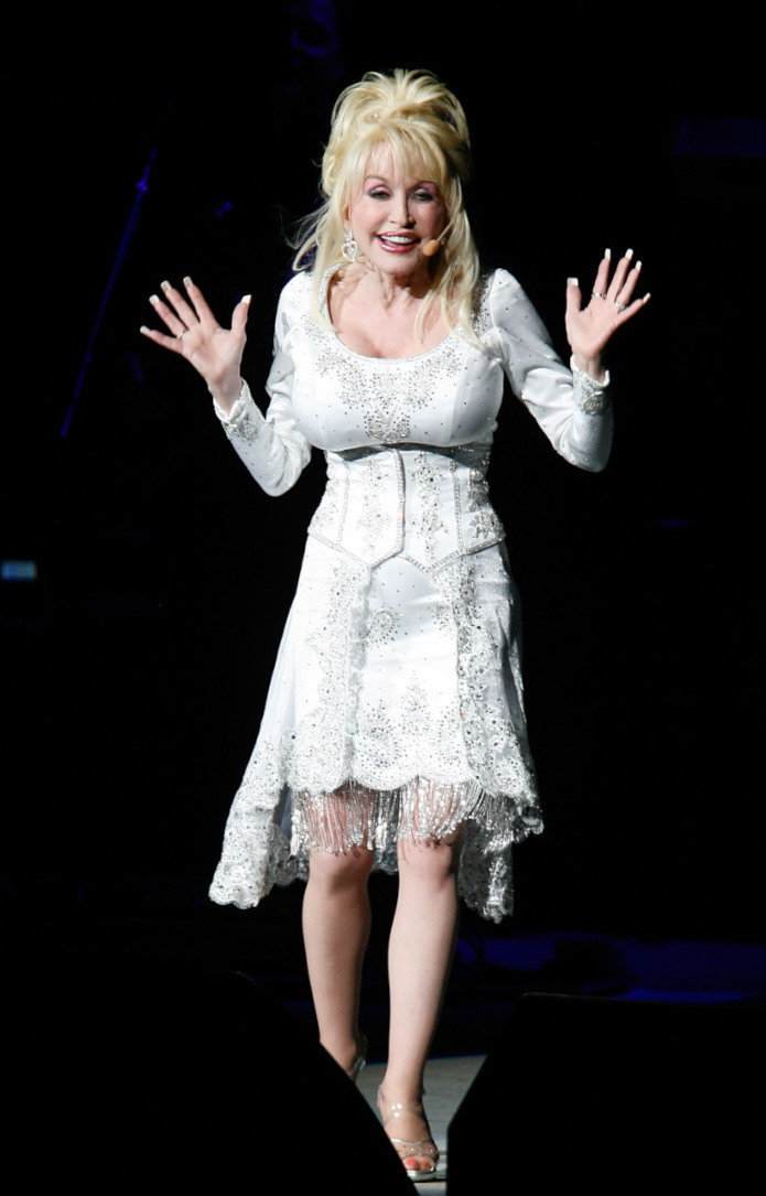 NEW YORK - MAY 01:  Dolly Parton performs at Radio City Music Hall in New York City on May 1, 2008  (Photo by Matt Carr/Getty Images) *** Local Caption *** Dolly Parton