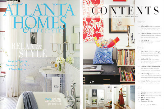 Photography by Mali Azima for Atlanta Homes & Lifestyles July 2014 Issue