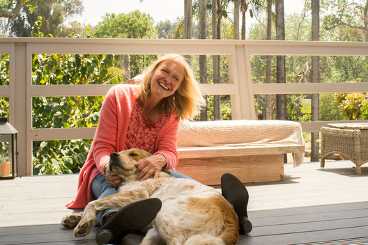 Cornelia Funke photographed at home in Malibu, CA, April 25 2019
