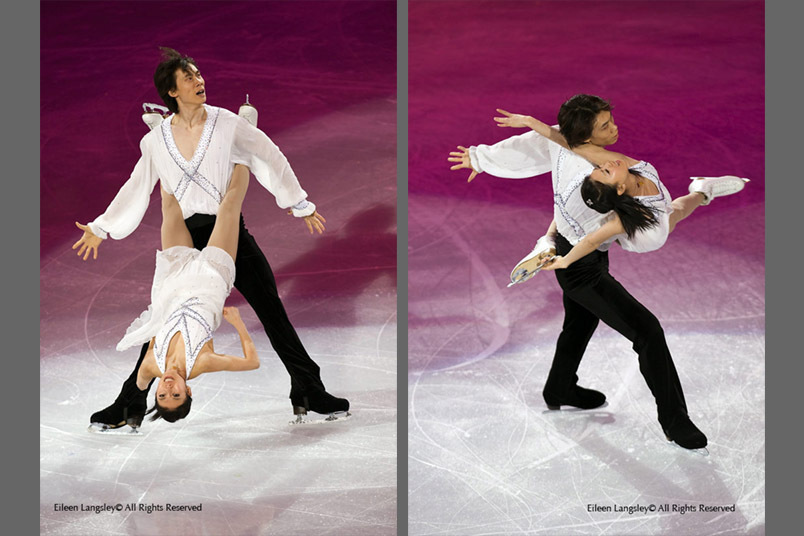 Qing Pang and Jian Tong (China) perform an artistic and daring routine in the exhibition of the 2010 Winter Olympic Games in Vancouver.