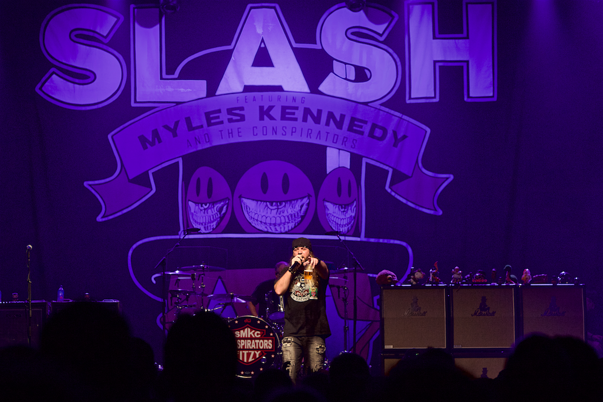 Brent Porche introduces Slash WMMR North Seventh Philadelphia, Pa October 10, 2018  DerekBrad.com