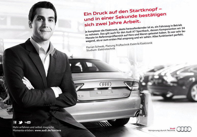 Fotografie für Anzeigenkampagne von Audi in Deutschland, Österreich, Schweiz, Advertisingphotography for Audi for campaign in germany, austria, switzerland