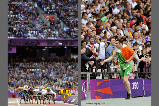 Paralympic athletes enjoyed competing to a full stadium during the Athletic competition at the London 2012 Paralympic Games.