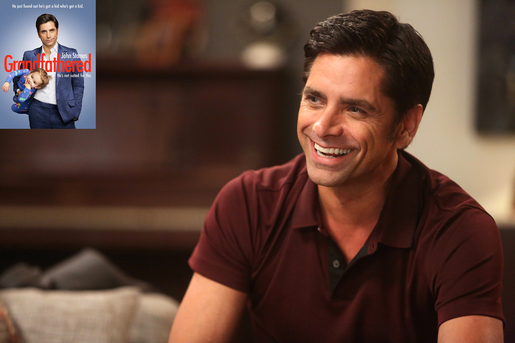 "GRANDFATHERED: L-R: John Stamos in the ""Guy's Night"" episode GRANDFATHERED airing Tuesday, Oct. 20 (8:00-8:30 PM ET/PT) on FOX.