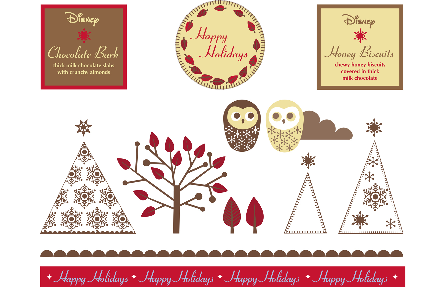 A Christmas identity for Winnie the Pooh and friends, 