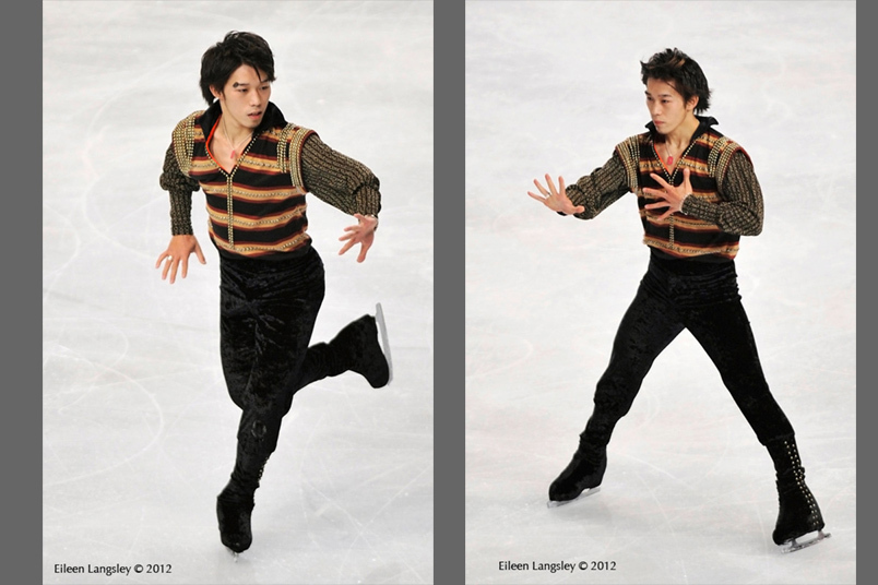 Takahito Mura (Japan) competing in the  long programmes at the 2012 ISU Grand Prix Trophy Eric Bompard at the Palais Omnisports Bercy