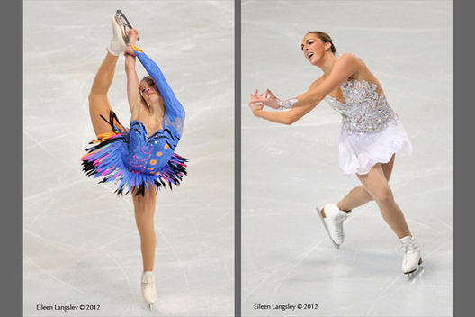 Joshi Helgesson (Sweden) and Jenna McCorkell (Great Britain) at the 2012 ISU Grand Prix Trophy Eric Bompard at the Palais Omnisports Bercy