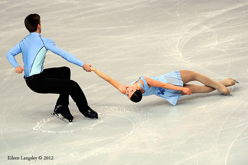 Sally Hoolin and James Hunt (Great Britain) competing in the Pairs event at the 2012 European Figure Skating Championships at the Motorpoint Arena in Sheffield UK January 23rd to 29th.