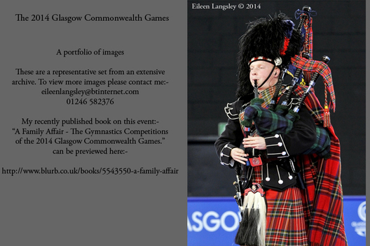A Scottish piper at the 2014 Glasgow Commonwealth Games.