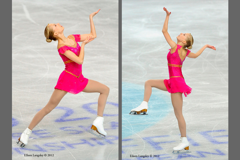 Juulia Turkkila (Finland) competing her long programme at the 2012 European Figure Skating Championships at the Motorpoint Arena in Sheffield UK January 23rd to 29th.