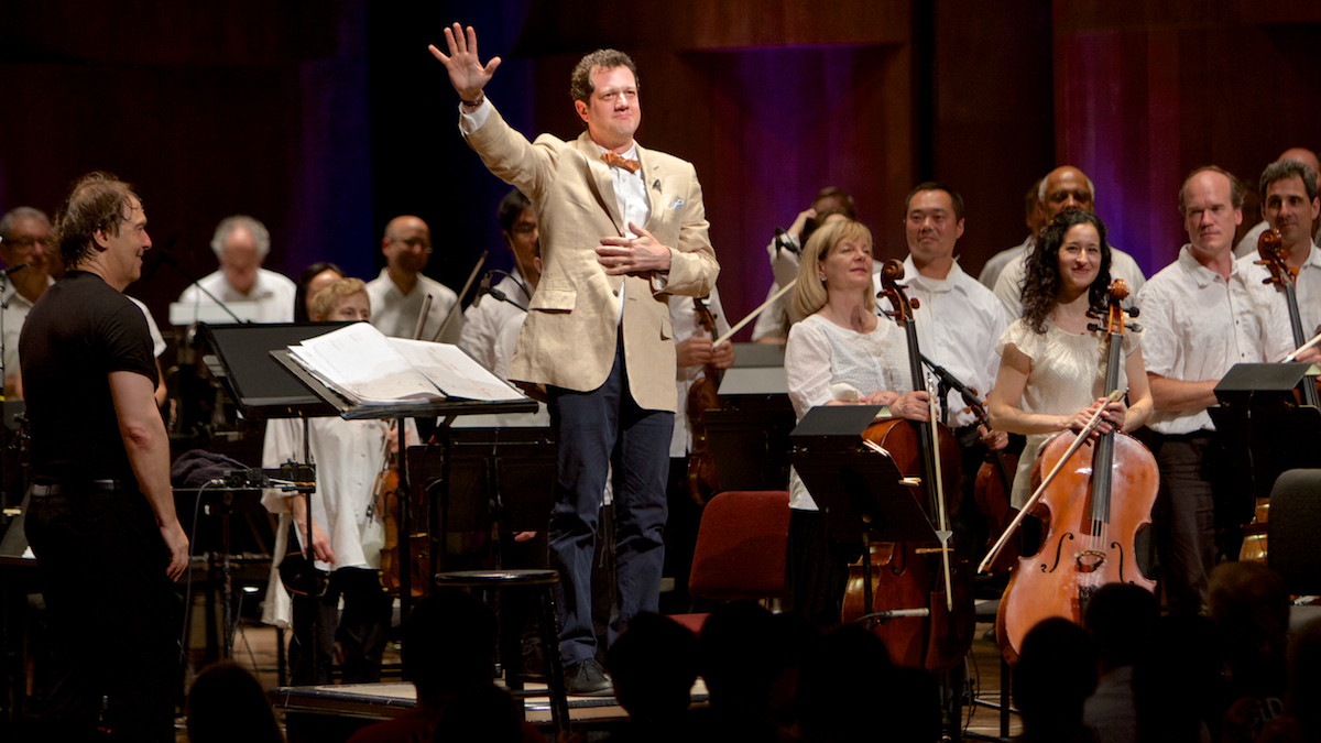 Compser Michael Giacchino Conductor David Newman The Mann Center Philadelphia, Pa July 31, 2014  DerekBrad.com