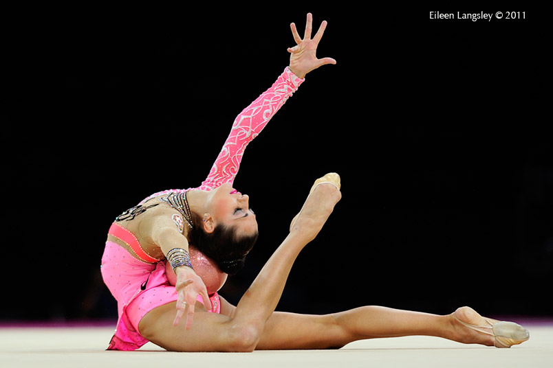 Anna Gurbanova (Azerbaijan) competing with Ball at the World Rhythmic Gymnastics Championships in Montpellier.