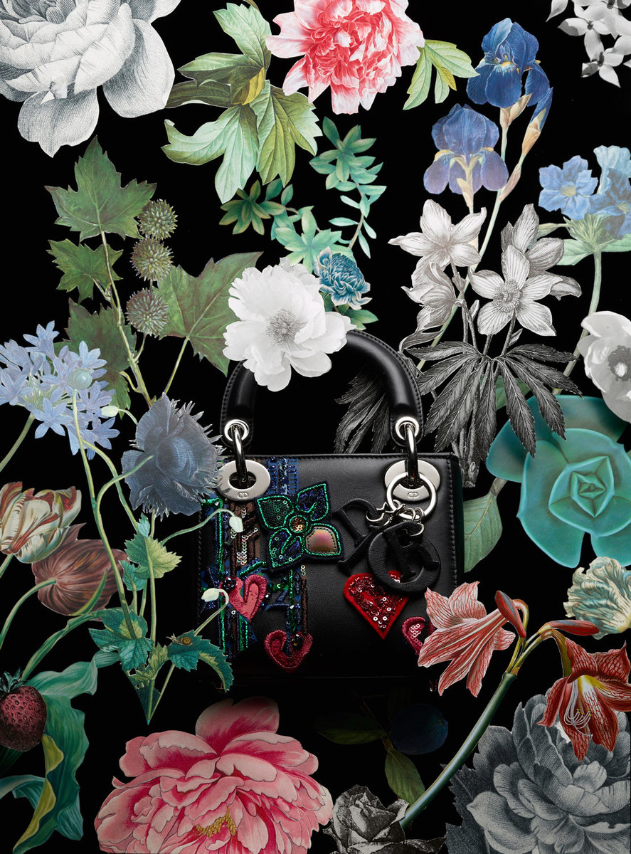 Dior Bag With Paper Flowers Setgoddess Megan Caponetto
