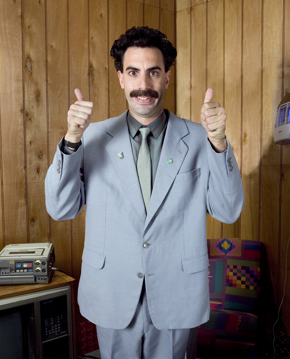 Sacha Baron Cohen as 'Borat'