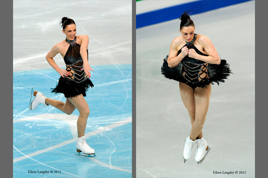 Jenna McCorkill (great Britain) competing her short programme at the 2012 European Figure Skating Championships at the Motorpoint Arena in Sheffield UK January 23rd to 29th.