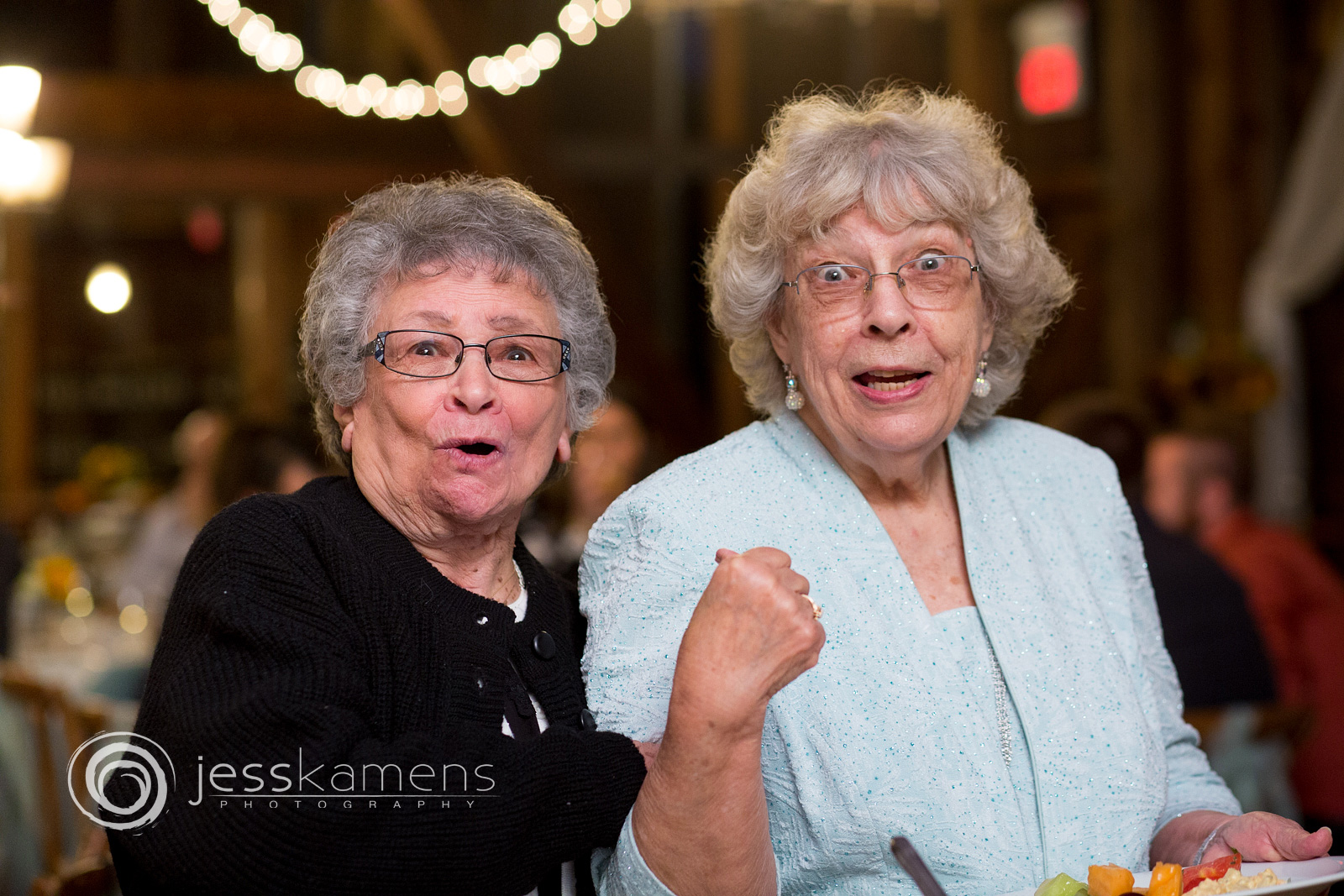 two older women laugh