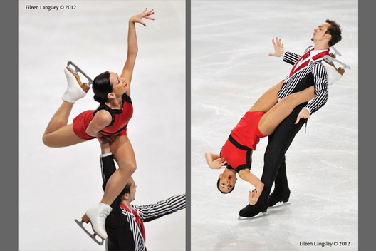 Ksenia Stolbova and Fedor Klimov (Russia) competing in the Pairs event at the 2012 ISU Grand Prix Trophy Eric Bompard at the Palais Omnisports Bercy