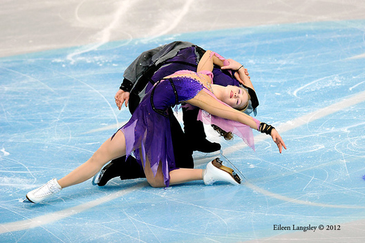 Siobahn Heekin-Cannedy and Dmitri Dun (Ukraine) competing at the 2012 European Figure Skating Championships at the Motorpoint Arena in Sheffield UK January 23rd to 29th.