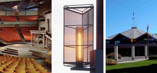 Copper mesh and bronze rod custom mullion interior lanterns