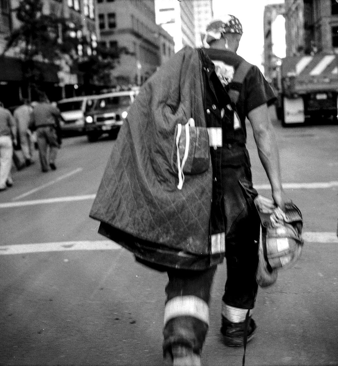 Ground Hero. Portraits of rescue workers on the days after the attacks of September 11, New York, NY, 2001.