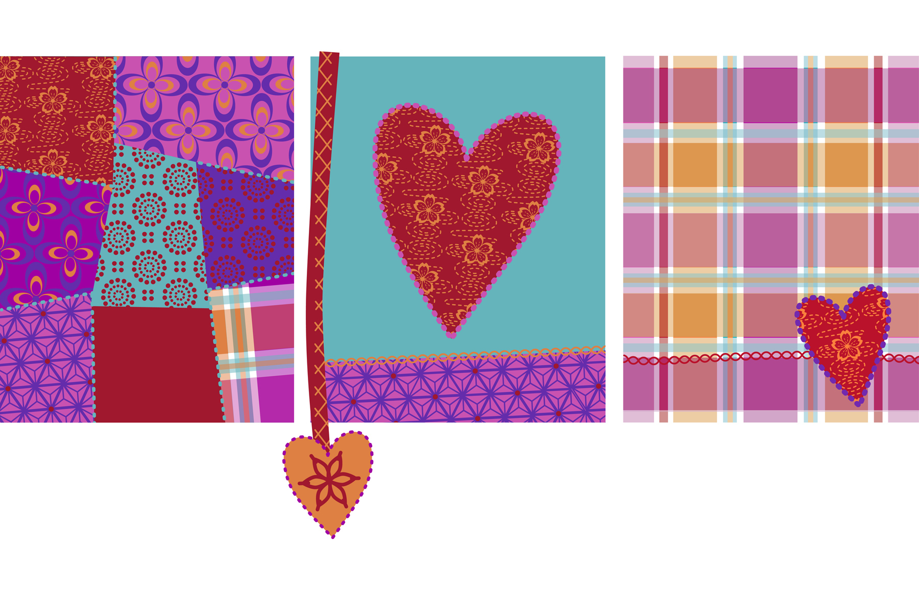 Surface pattern for a range of Back to College stationery gifts.
