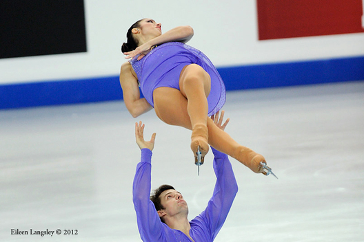 Stefania Berton and Ondrej Hotarek (Italy) competing the Pairs event at the 2012 European Figure Skating Championships at the Motorpoint Arena in Sheffield UK January 23rd to 29th.