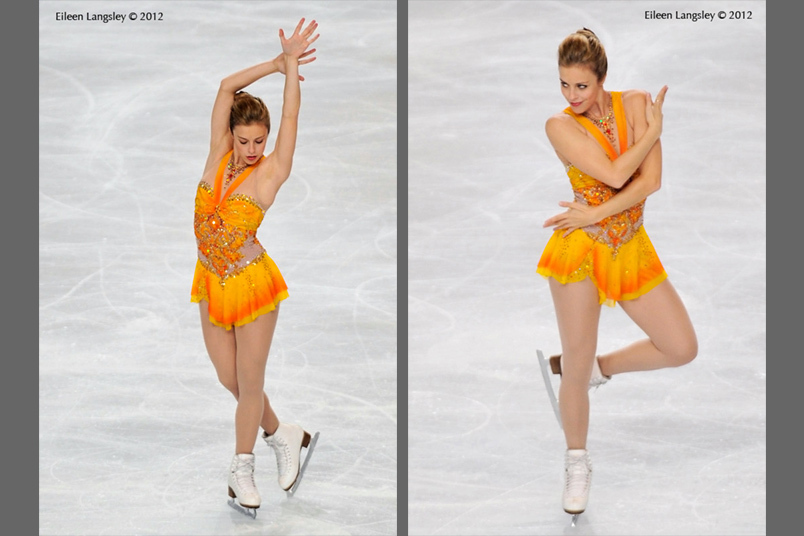 Ashley Wagner (USA) winner of the gold medal competing in the long programme at the 2012 ISU Grand Prix Trophy Eric Bompard at the Palais Omnisports Bercy
