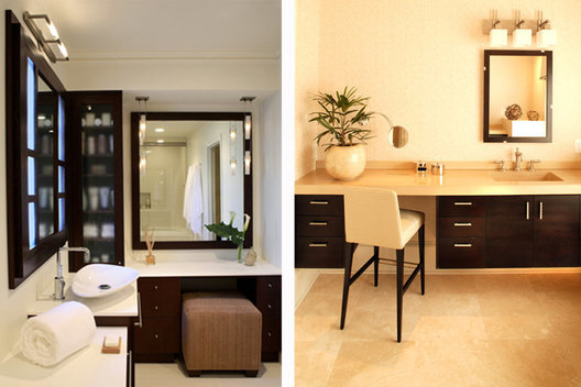 Left: Winner of the NKBA Small-Medium Bath Calla Award Bathroom Design Jackie Naylor Interiors