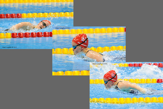 Ellie Simmonds (Great Britain) in action at the swimming competition of the London 2012 Paralympic Games.