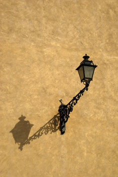 a lamp and its shadow