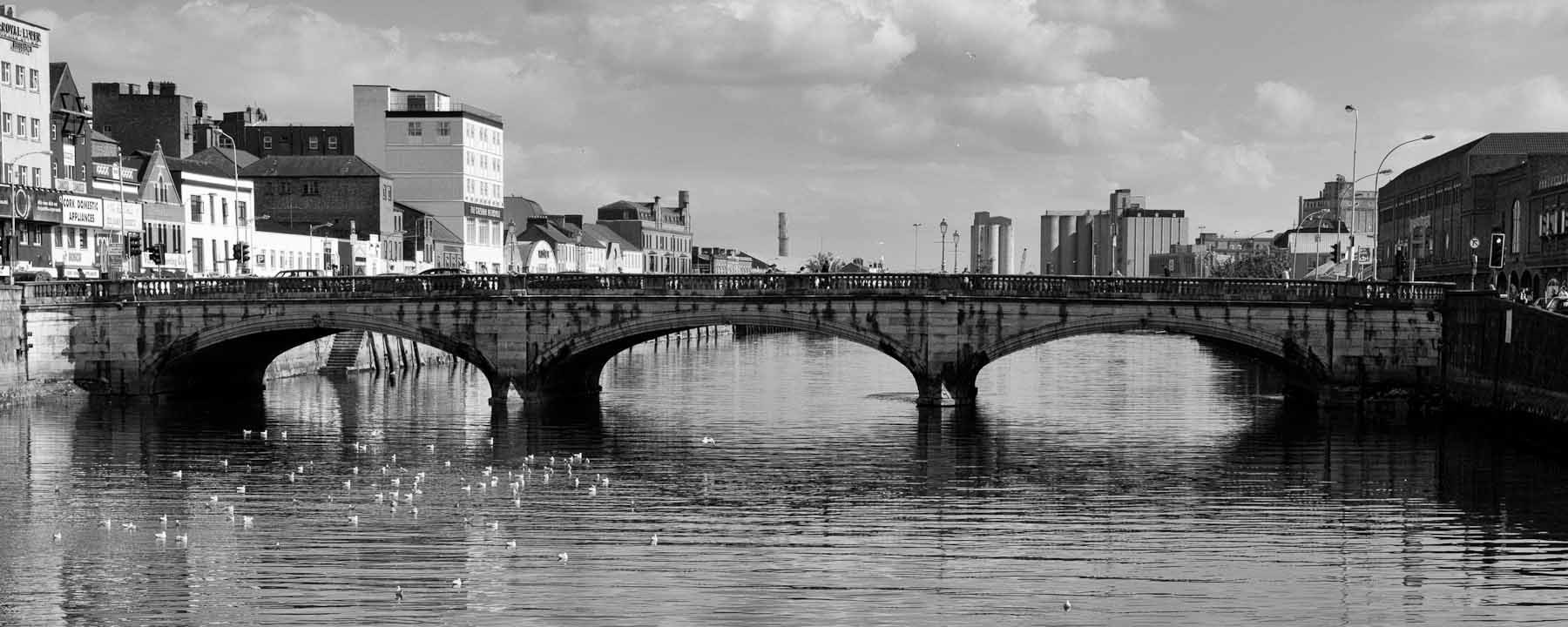 Historic Bridge in the Town of Cork in Southern Ireland in 2009