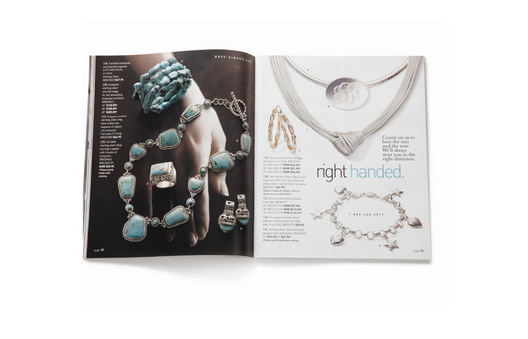 "Small ""Hand Book"" featuring new corporate logo and photo direction for R/S home and jewelry collections.
