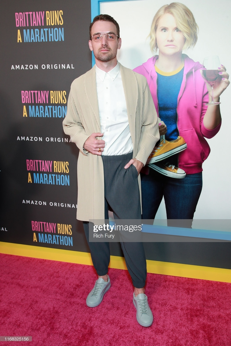 "LOS ANGELES, CALIFORNIA - AUGUST 15: Micah Stock attends the premiere of Amazon Studios' ""Brittany Runs A Marathon"" at Regal LA Live on August 15, 2019 in Los Angeles, California. (Photo by Rich Fury/FilmMagic)"